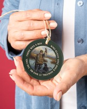 LIMITED EDITION - DUCK HUNTING - 60008TU Circle ornament - single (porcelain) aos-circle-ornament-single-porcelain-lifestyles-01