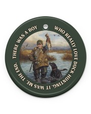 LIMITED EDITION - DUCK HUNTING - 60008TU Circle ornament - single (porcelain) front