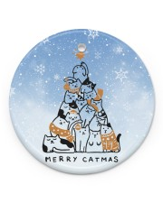 LIMITED EDITION - CAT LOVERS 90060A Circle ornament - single (porcelain) front