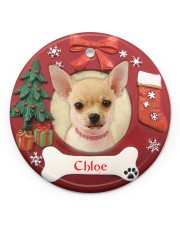 LIMITED EDITION - DOG LOVERS - 80219P Circle ornament - single (porcelain) front