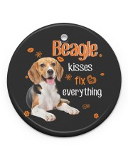 LIMITED EDITION - DOG BEAGLE LOVERS 90102A Circle ornament - single (porcelain) front