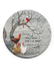 LIMITED EDITION - CHRISTMAS CHICKEN LOVER - 80266P Circle ornament - single (porcelain) front