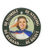 LIMITED EDITION - BE STRONG - 90163TU Circle ornament - single (porcelain) front
