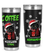 LIMITED EDITION - BLACK CAT AND COFFEE - 6936TU 20oz Tumbler front