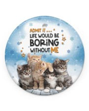 LIMITED EDITION - CAT LOVERS 90112A Circle ornament - single (porcelain) front