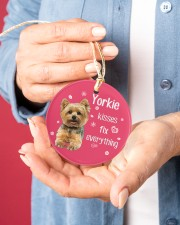 LIMITED EDITION - DOG YORKSHIRE 90053AA Circle ornament - single (porcelain) aos-circle-ornament-single-porcelain-lifestyles-01