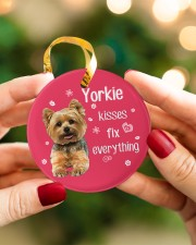 LIMITED EDITION - DOG YORKSHIRE 90053AA Circle ornament - single (porcelain) aos-circle-ornament-single-porcelain-lifestyles-08