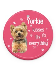 LIMITED EDITION - DOG YORKSHIRE 90053AA Circle ornament - single (porcelain) front