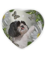 LIMITED EDITION - DOG SHIH TZU LOVERS 10940A Heart ornament - single (wood) front