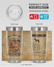 LIMITED EDITION - LOVE HORSES - 90107TU 20oz Tumbler aos-20oz-tumbler-lifestyle-front-60