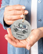 LIMITED EDITION - MAIL TRUCK  - 80318P Circle ornament - single (porcelain) aos-circle-ornament-single-porcelain-lifestyles-01
