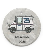 LIMITED EDITION - MAIL TRUCK  - 80318P Circle ornament - single (porcelain) front