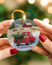 LIMITED EDITION - RED TRUCK - 10966TU Circle ornament - single (porcelain) aos-circle-ornament-single-porcelain-lifestyles-08