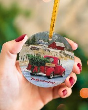 LIMITED EDITION - RED TRUCK - 10966TU Circle ornament - single (porcelain) aos-circle-ornament-single-porcelain-lifestyles-09