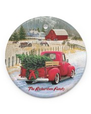 LIMITED EDITION - RED TRUCK - 10966TU Circle ornament - single (porcelain) front