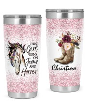LIMITED EDITION - HORSES AND JESUS - 10839TU 20oz Tumbler front