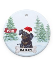 LIMITED EDITION - DACHSHUND - 90080TU Circle ornament - single (porcelain) front