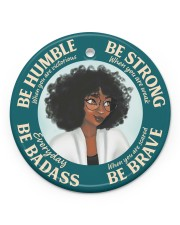 LIMITED EDITION - BE STRONG - 11046TU Circle ornament - single (porcelain) front