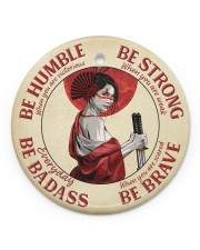 LIMITED EDITION - BE STRONG - 80312TU Circle ornament - single (porcelain) front
