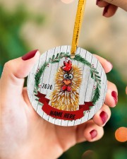 LIMITED EDITION - FARMER FUNNY CHICKEN - 80214P Circle ornament - single (wood) aos-circle-ornament-single-wood-lifestyles-09