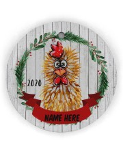 LIMITED EDITION - FARMER FUNNY CHICKEN - 80214P Circle ornament - single (wood) front