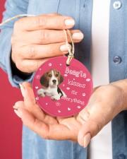 LIMITED EDITION - DOG BEAGLE 90155A Circle ornament - single (porcelain) aos-circle-ornament-single-porcelain-lifestyles-01