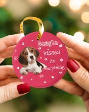 LIMITED EDITION - DOG BEAGLE 90155A Circle ornament - single (porcelain) aos-circle-ornament-single-porcelain-lifestyles-08