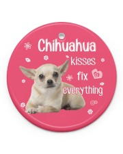 LIMITED EDITION - DOG CHIHUAHUA 9099AA Circle ornament - single (porcelain) front