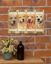 LIMITED EDITION - golden retriever - POS11212TU 17x11 Poster poster-landscape-17x11-lifestyle-23