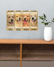 LIMITED EDITION - golden retriever - POS11212TU 17x11 Poster poster-landscape-17x11-lifestyle-24