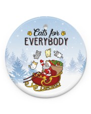 LIMITED EDITION - CAT  LOVERS 90047A Circle ornament - single (porcelain) front