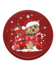 LIMITED EDITION - DOG YORSHIRE LOVERS 10939A Circle ornament - single (porcelain) front