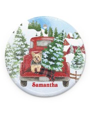 LIMITED EDITION - YORKIE - 10932TU Circle ornament - single (porcelain) front