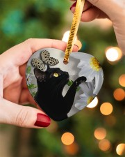 LIMITED EDITION - CAT LOVERS 10944A Heart ornament - single (porcelain) aos-heart-ornament-single-porcelain-lifestyles-08