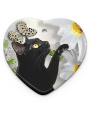 LIMITED EDITION - CAT LOVERS 10944A Heart ornament - single (porcelain) front