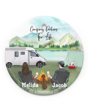 LIMITED EDITION - CAMPING PARTNER - 90093TU Circle ornament - single (porcelain) front