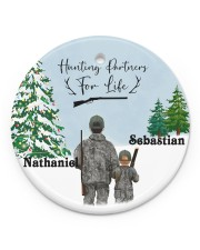 LIMITED EDITION - FATHER AND SON - 90096TU Circle ornament - single (porcelain) front
