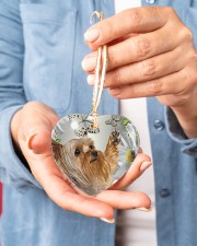 LIMITED EDITION - DOG YORKSHIRE LOVERS 10941A Heart ornament - single (porcelain) aos-heart-ornament-single-porcelain-lifestyles-01