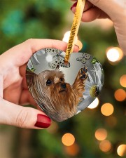 LIMITED EDITION - DOG YORKSHIRE LOVERS 10941A Heart ornament - single (porcelain) aos-heart-ornament-single-porcelain-lifestyles-08