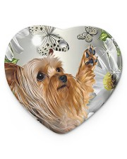LIMITED EDITION - DOG YORKSHIRE LOVERS 10941A Heart ornament - single (porcelain) front