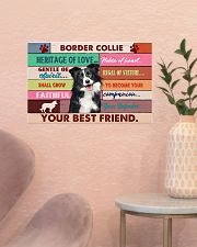 LIMITED EDITION - DOG BORDER COLLIE 11004A 17x11 Poster poster-landscape-17x11-lifestyle-22