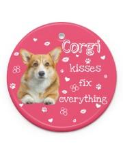 LIMITED EDITION - DOG CORGI LOVERS 90156A Circle ornament - single (porcelain) front