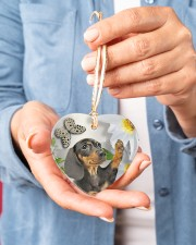 LIMITED EDITION - DOG BEAGLE LOVERS 10943A Heart ornament - single (porcelain) aos-heart-ornament-single-porcelain-lifestyles-01