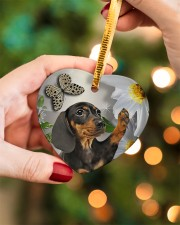 LIMITED EDITION - DOG BEAGLE LOVERS 10943A Heart ornament - single (porcelain) aos-heart-ornament-single-porcelain-lifestyles-08