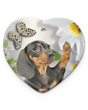 LIMITED EDITION - DOG BEAGLE LOVERS 10943A Heart ornament - single (porcelain) front
