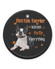 LIMITED EDITION - DOG BOSTON TERRIER LOVERS 90101A Circle ornament - single (porcelain) front