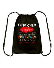 TEACHER TEACHER TEACHER TEACHER Drawstring Bag thumbnail