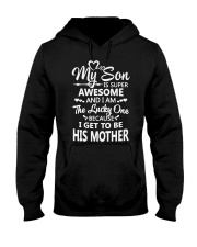 Mom Mom Mom Hooded Sweatshirt front