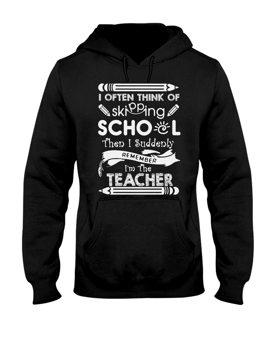 TEACHER TEACHER TEACHER TEACHER Hooded Sweatshirt