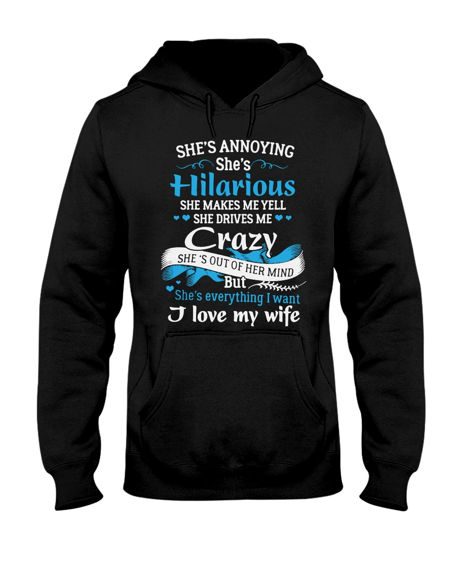 HUSBAND HUSBAND HUSBAND Hooded Sweatshirt